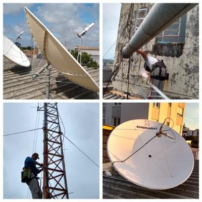 montagem antenas